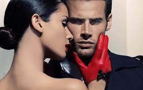 Обои женщина, мужчина, красные перчатки картинки на рабочий стол ...
