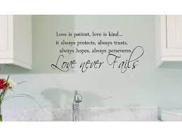 Black 22 X 9 5 Love Is Patient Love Is Kind Vinyl Wall Art Inspirational Quotes And Saying Home Decor Decal Sticker Newegg Com