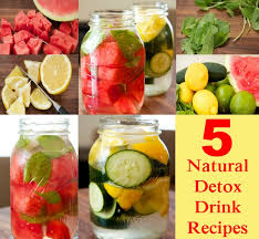5 natural detox drink recipes diy