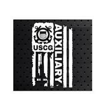 Does Not Apply Distressed Uscg United States Coast Guard Flag Auxiliary Decal Sticker 7 X 11
