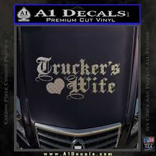 Trucker S Wife Script Decal Sticker A1 Decals