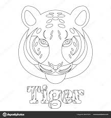 Tiger Kleurplaat Voor Kinderen Wild Zoogdier Een Dier Lineaire