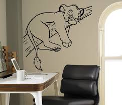 Amazonsmile Simba Lion King Wall Decal Disney Cartoons Vinyl Sticker Home Interior Removable Decor Child Disney Mural Animal Wall Decals Wall Stickers Cartoon