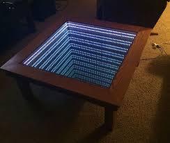 led illusion mirror infinity table