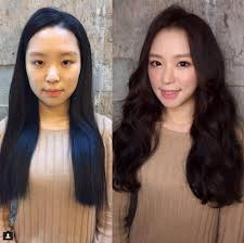 korea before and after makeup