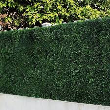 6 Piece Artificial Boxwood Hedges Greenery Panel Privacy Fence Screen For Outdoor Wall Home Decoration Walmart Com Artificial Hedges Artificial Plants Outdoor Artificial Boxwood