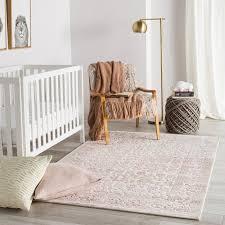 Butcher Pink Area Rug In 2020 Nursery Rugs Girl Baby Room Rugs Girls Room Rugs