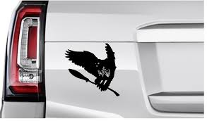 Hedwig Snowy Owl With Broom Harry Potter Decal Vinyl Sticker Graphics Ur Impressions Llc