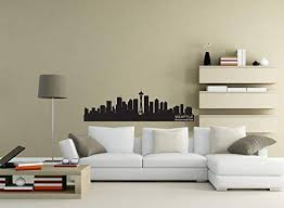 Amazon Com Seattle Art Seattle Skyline Decal Washington Skyline Decal Vinyl Decal Wall Art Wall Sticker Wall Decal Home Decor Office Wall Art Made In Usa Home Kitchen
