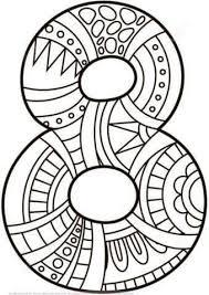 Pin Van Katleen Van Hemeldonck Op Cijfers Kleurplaten Mandala