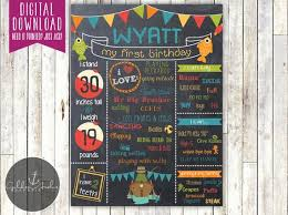 fishing birthday chalkboard poster