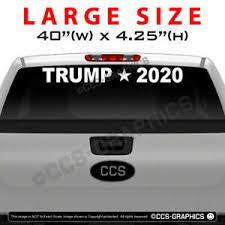 Trump 2020 Windshield Back Window Decal Sticker Large 22 30 40 Inch Wide Ebay