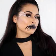 easy makeup idea spider