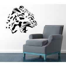 Shop Wild Animals Cheetah Head Roaring Leopard Interior Design Home Vinyl Sticker Art Kids Room Sticker Decal Size 22x22 Color Black Overstock 14668203