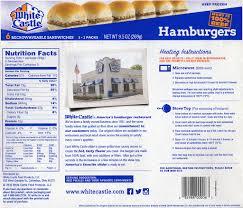 review white castle hamburger sliders