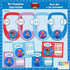 Brawl Stars Kit Completo Imprimible Personalizado Candy Bar