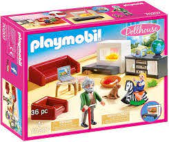Amazon Com Playmobil Comfortable Living Room Furniture Pack Toys Games