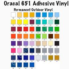 Sale Oracal 651 12x12 Sheets Adhesive Vinyl Pick Your Color Decal Carolina Crafter Supply