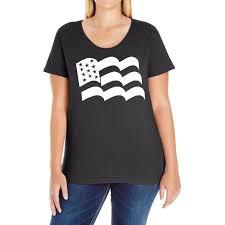 Custom American Flag Sticker Vinyl Decal Usa Stars United States Country Ca Ladies Curvy T Shirt By Mdk Art Artistshot