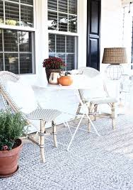 parisian inspired neutral front porch