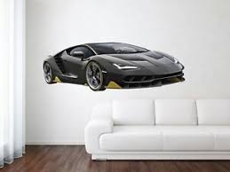 Lamborghini Aventador Racing Sport Removable Hd Car Wall Decal Mural Vinyl Stick Ebay