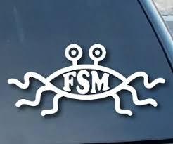 Flying Spaghetti Monster Vinyl Decal