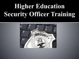 ppt higher education security officer