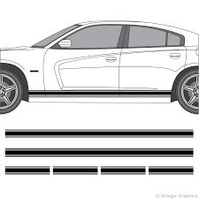 Dodge Charger Rocker Panel Stripes 3m Vinyl Decal Kit