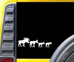 Moose Family Car Decal Set Maine Goodies