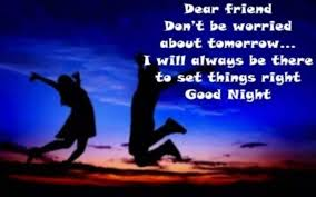 sweet good night es for friends in