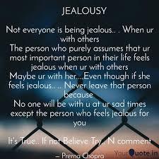 jealousy not everyon quotes writings by prerna chopra