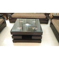 center table glass top black center