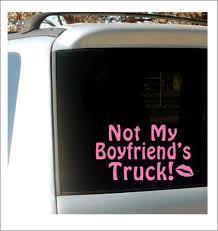 Not My Boyfriend S Truck Decal Car Decal Truck Window Etsy