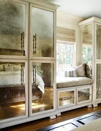 cabinets with antiqued mirror