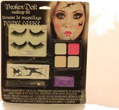 s broken doll makeup kit face