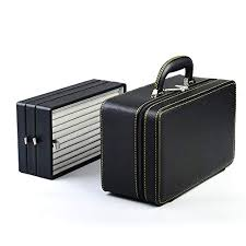 oirlv black leather jewelry box