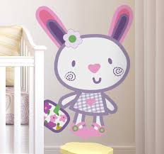 Kids Pink Bunny Wall Sticker Tenstickers