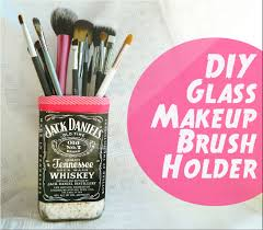 diy makeup brush holder candle vase