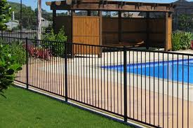 High Quality Black Flat Top Pool Fencing On The Gold Coast