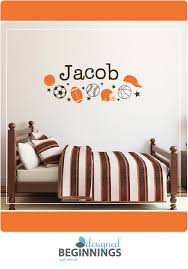 Sports Decals And Wall Stickers For Your Nursery And Bedroom Walls Personalized Wall Decals Boys Wall Decals Boys Room Decor