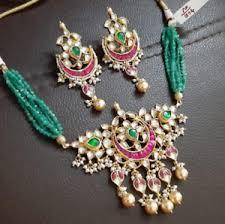 kundan jewelry choker necklace gold