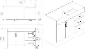 standard kitchen cabinet dimension