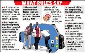 fine in new app cab rule in mp