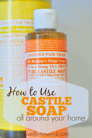 how to use castile soap the many uses