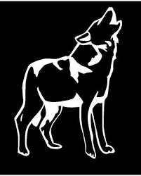 Vinyl Decal Wolf Standing Howl Howling Truck Country Bumper Etsy