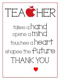 printables teacher appreciation gifts teacher