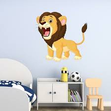 Style And Apply Roaring Lion Cub Wall Decal Wayfair