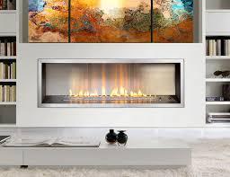 1400 slimline flue less gas fire