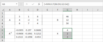 system of linear equations in excel