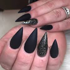 46 cute pointy acrylic nails that are